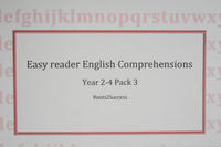 Easy reader English comprehension pack 3